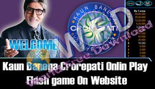 KBC (Kaun Banega Crorepati) Onlin Play Game on Website