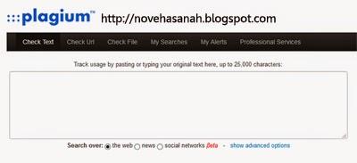 melacak pencuri artikel blog dengan plagium secara gratis