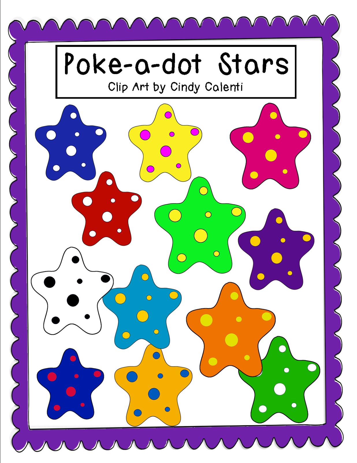 http://grannygoestoschool.blogspot.com/2014/08/poke-dot-stars-clip-art-freebie.html