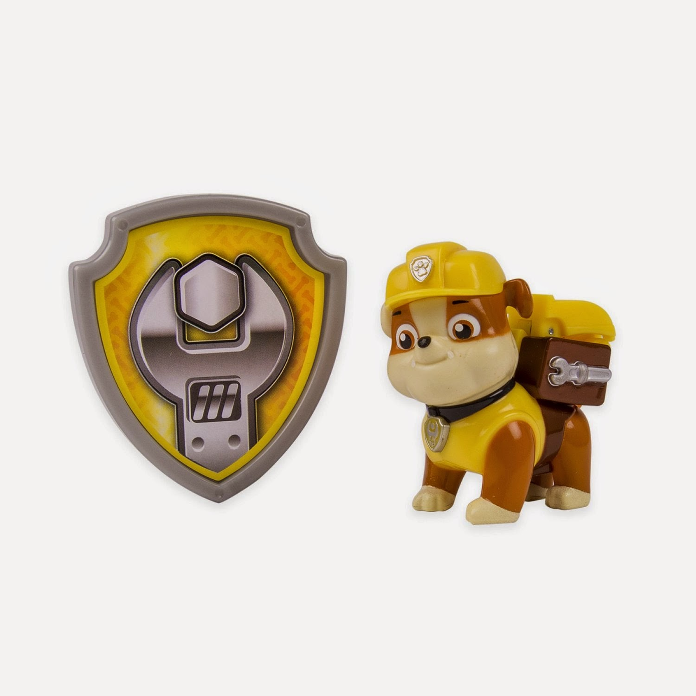 JUGUETES - Paw Patrol : La Patrulla Canina  Rubble | Figura - Muñeco + Placa  Toys | Serie Televisión | Spin Master | A partir de 3 años