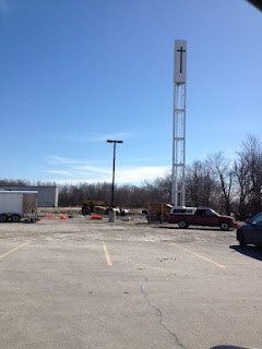 image Courtice Ontario - Hope Fellowhip Cross Tower Under Construction