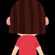 女の子の後ろ姿のイラスト(ポーズ)