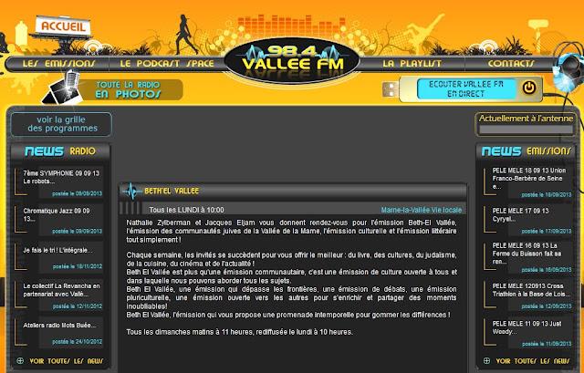 Beth-El Vallée - Ecouter l'émission en direct sur Vallée FM
