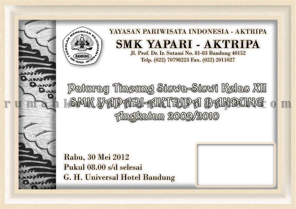 Desain Undangan Perpisahan SMK Yapari Aktripa Angkatan 2009/2010