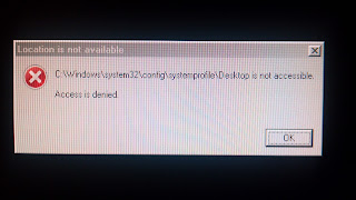 windows 7 message saying desktop is not accessible and access is denied
