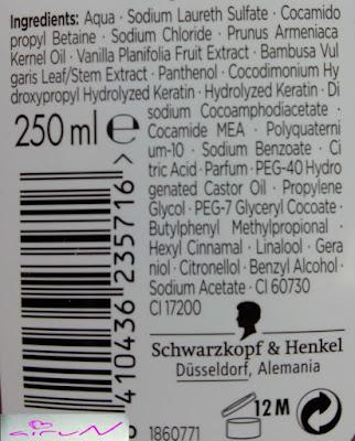 ingredientes champú liso asiático gliss