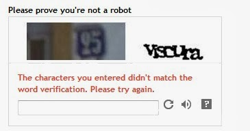 failed word verification