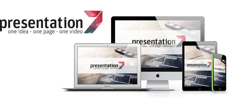 One idea - one video - one presentation page: Presentation7!