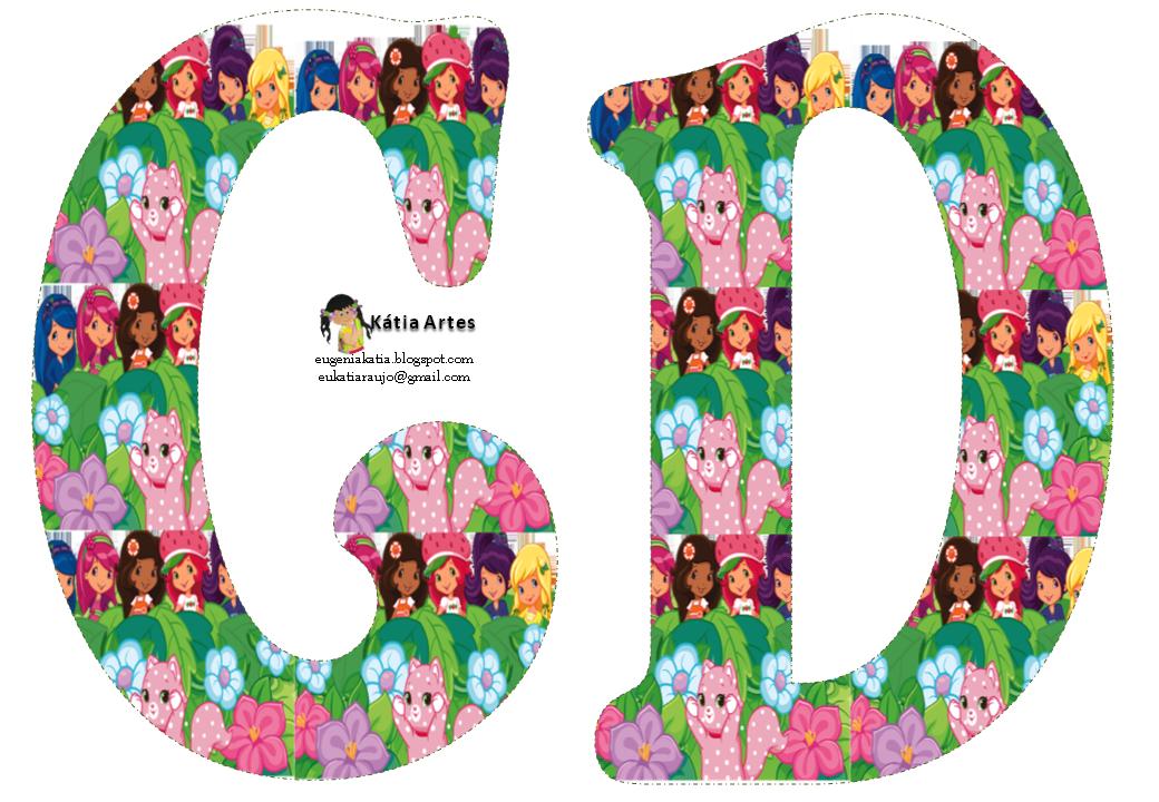 Alfabeto de Strawberry Shortcake y sus amigas entre las flores. | Oh ...