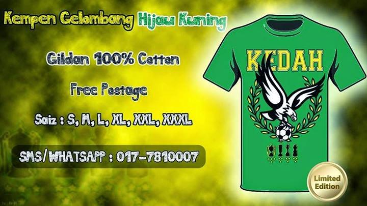 TShirt Kedah Piala Malaysia 2014 Paling HOT