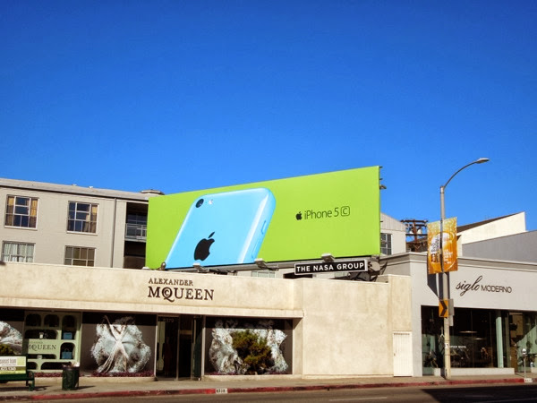 blue iPhone 5c wave 2 billboard