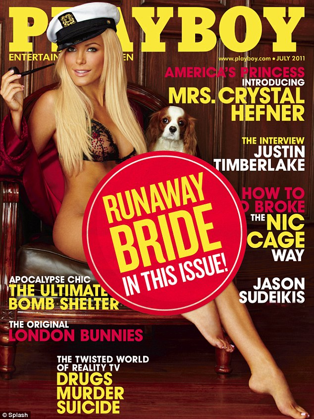 playboy magazine mrs crystal hefner 'runaway bride'