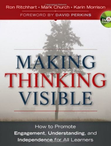 "This is a picture of the cover of the book ""Making thinking visible"""