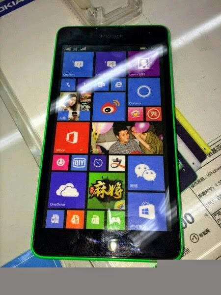 Gambar Dan Spesifikasi Microsoft Lumia 535 Menampakan Diri
