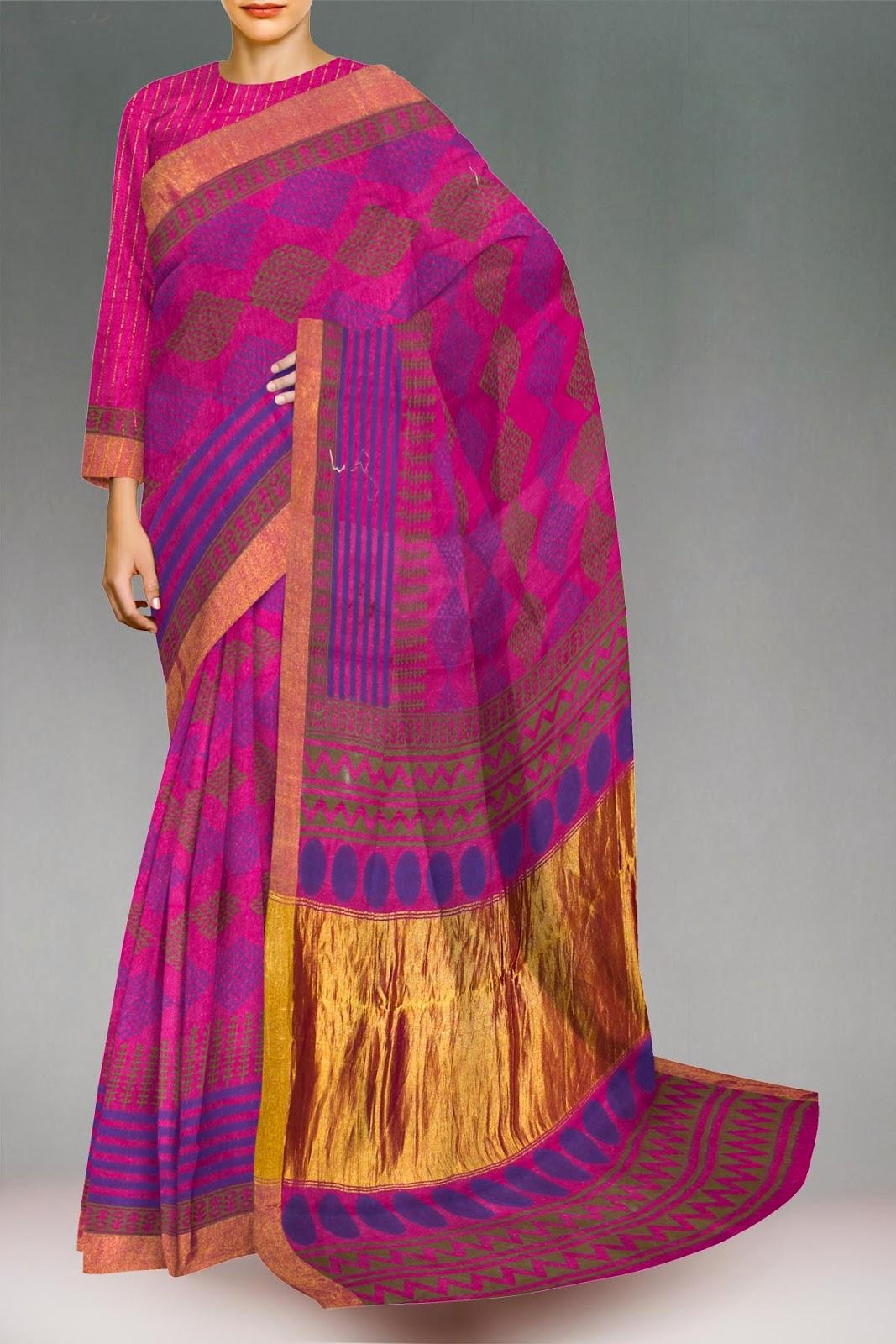 Stylish Cotton Sarees And Salwar Suits Pashmina Silk