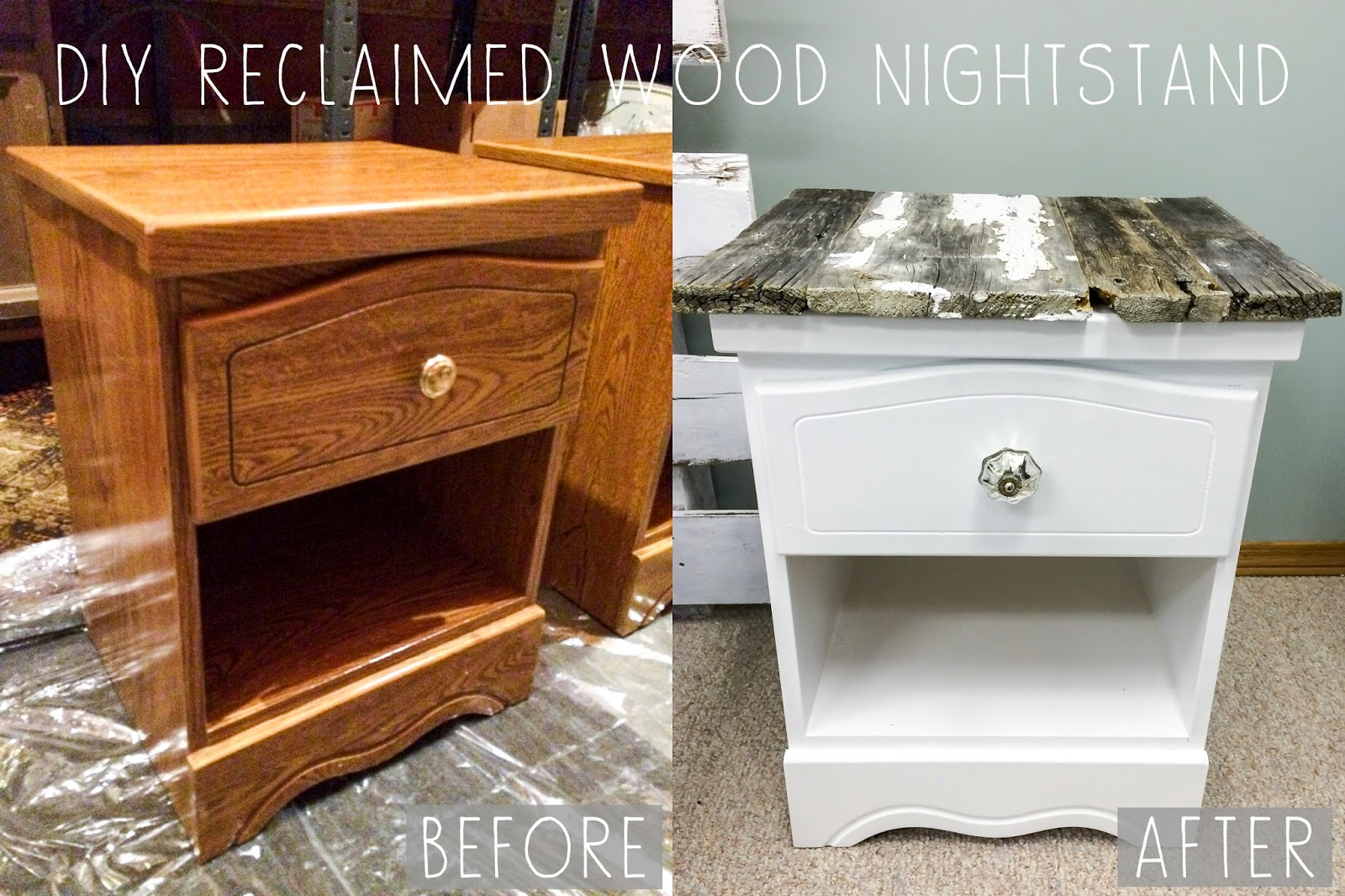 Of the creative variety diy reclaimed wood nightstands for Creative nightstands