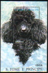 1995年サントメ・プリンシペ民主共和国 プードルの切手シート