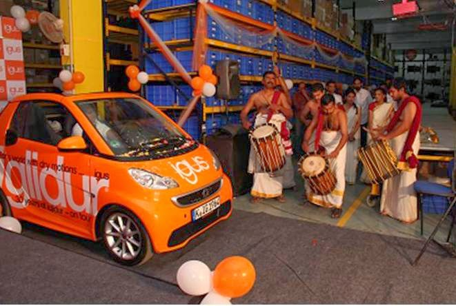 Pic 1 :Caption - Welcome of the car at the igus India factory