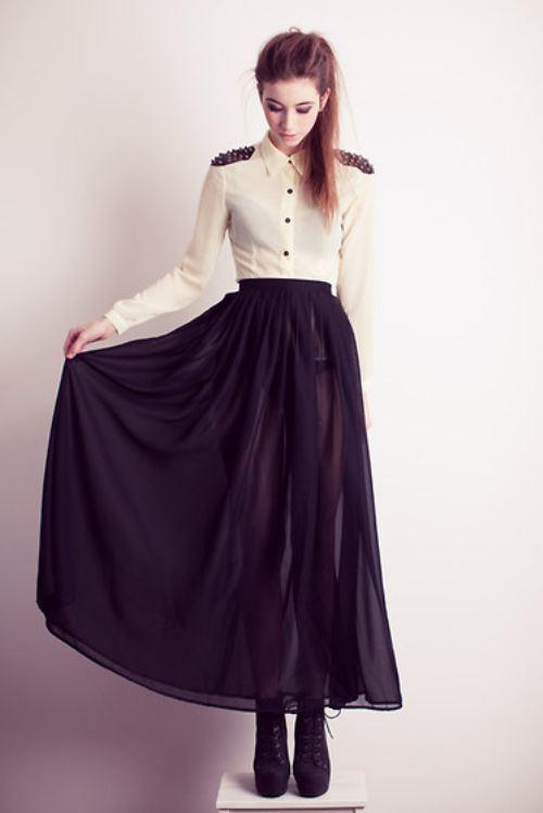 Sisters blog: Long skirt