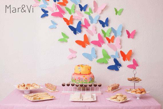 mesas dulces: galletas de mariposa