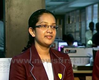 A/L Sheshani Gunathilake Commerce Island First Devi Balika