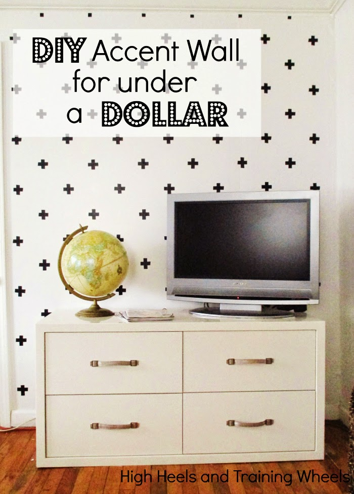 Easy and cheap DIY accent wall for under a dollar