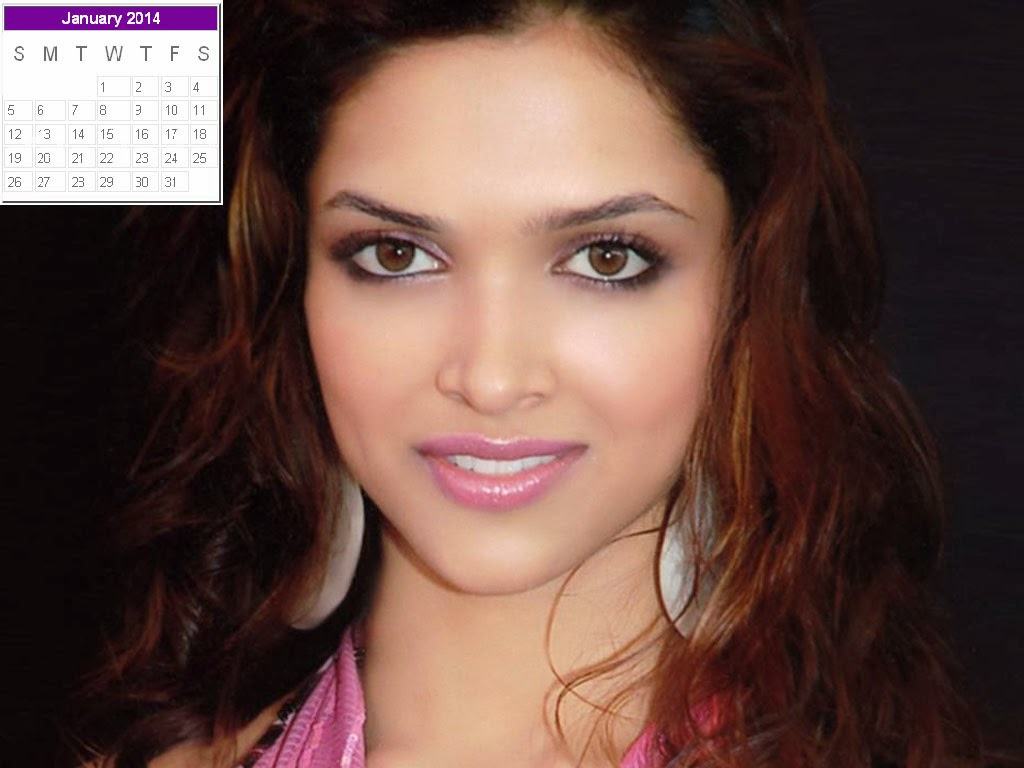 Deepika Padukone Calendar 2014: Deepika Padukone New Year 2014