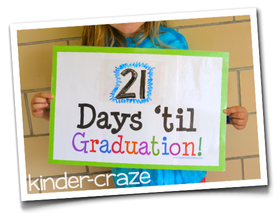 FREE countdown sign for graduation