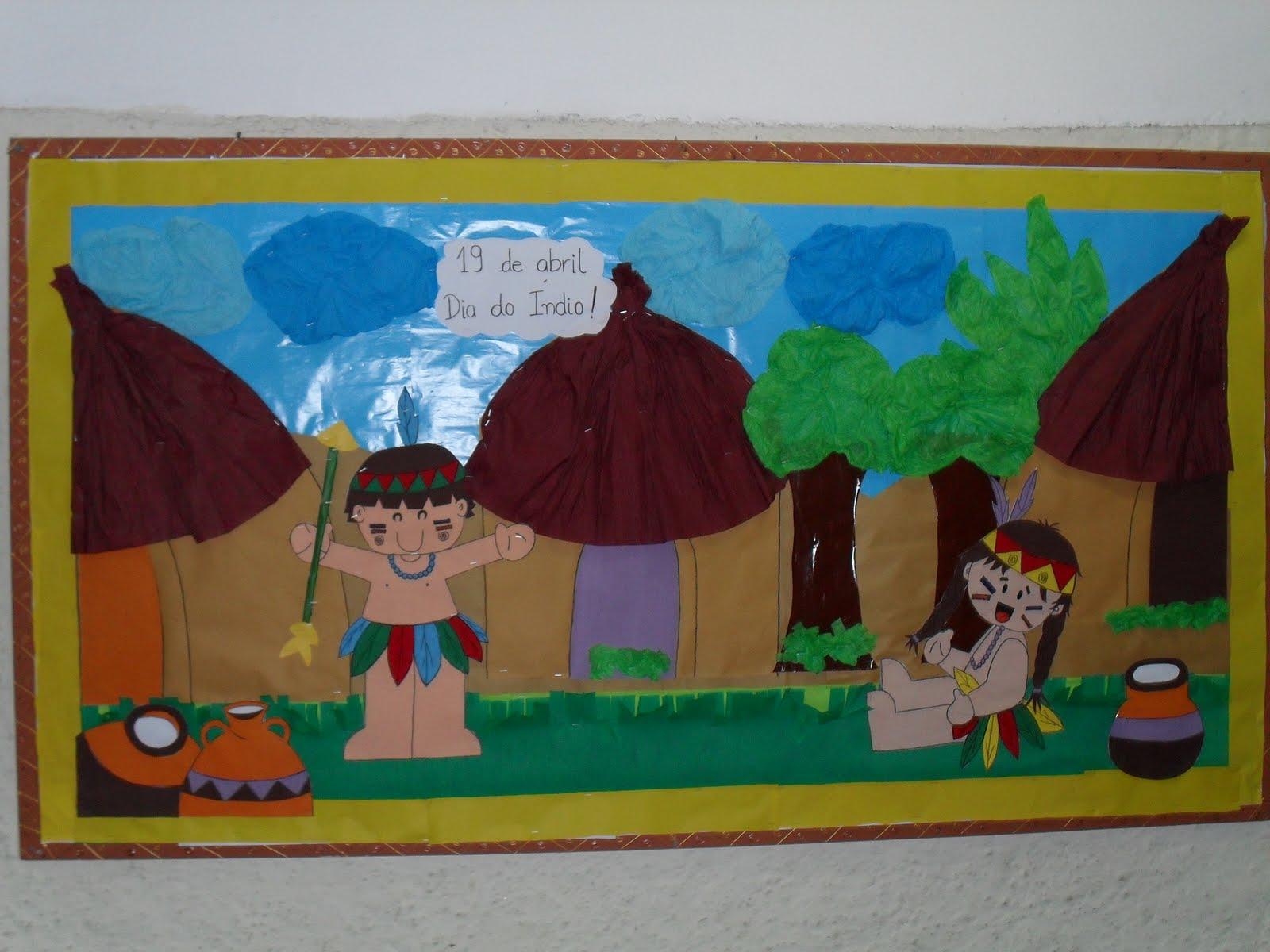 Mural Escolar Dia Do Indio