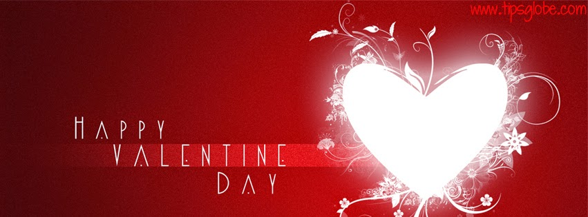 abstract heart valentine facebook cover 2015