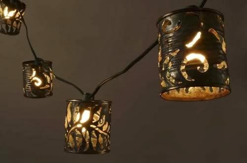 Lampada Barattolo Di Latta : Lanterne con barattoli di latta la casa delle idee