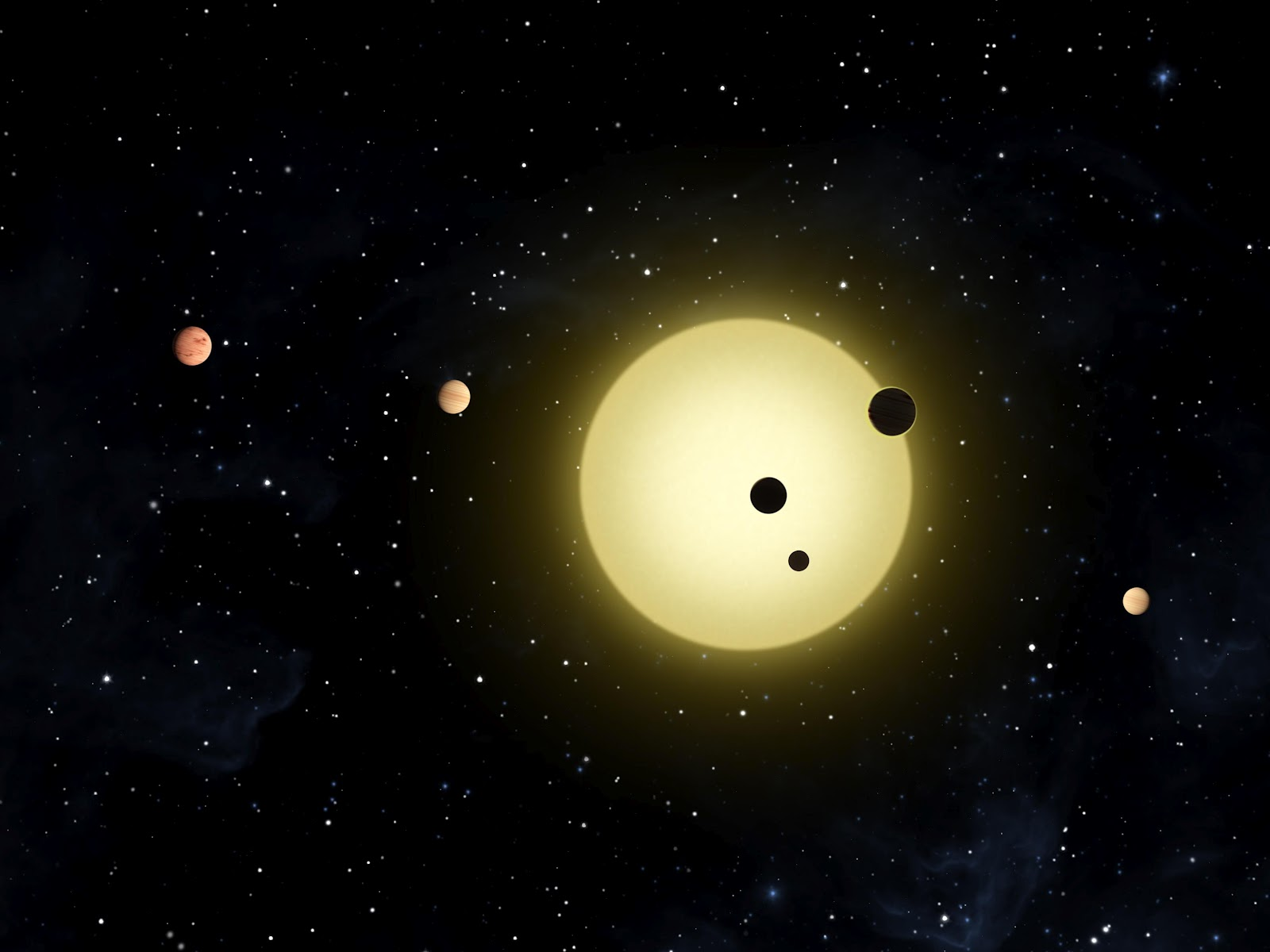 Kepler Planets wallpaper background