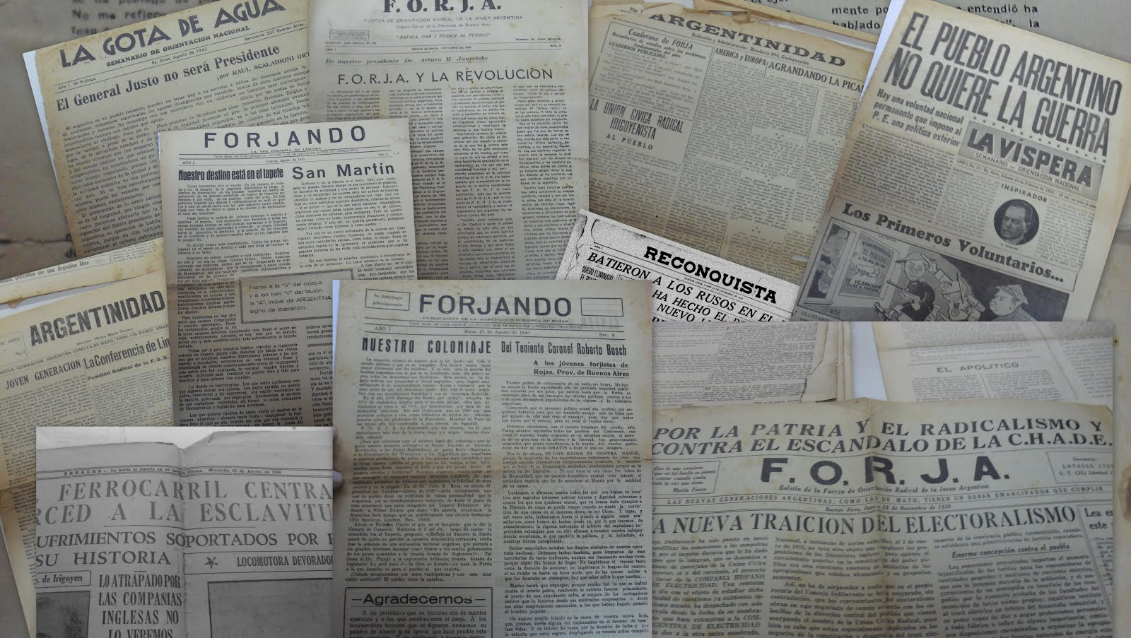 El ideario de FORJA a través de sus publicaciones periódicas. Por Juan Godoy (Tesis de Maestría)