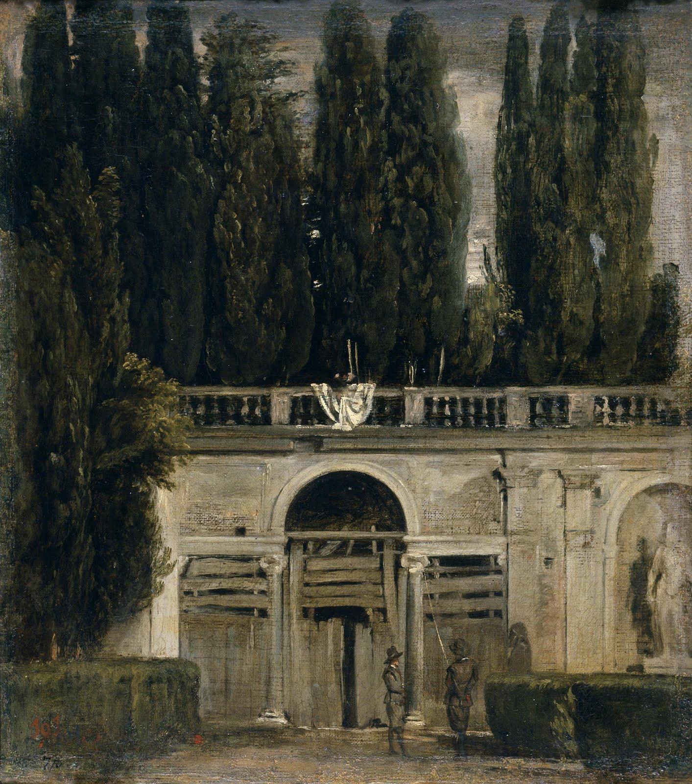 Cipreses de los jardines de la Villa Medici