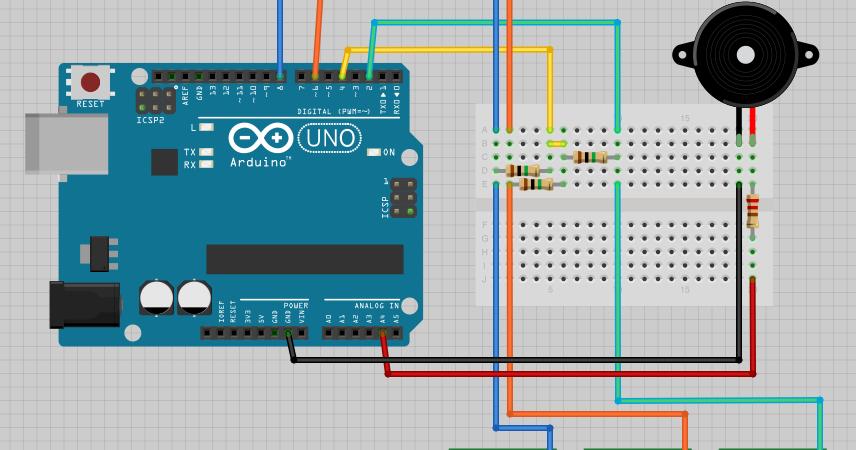 電子工作勉強中 arduinoとタッチセンサで電子ピアノ