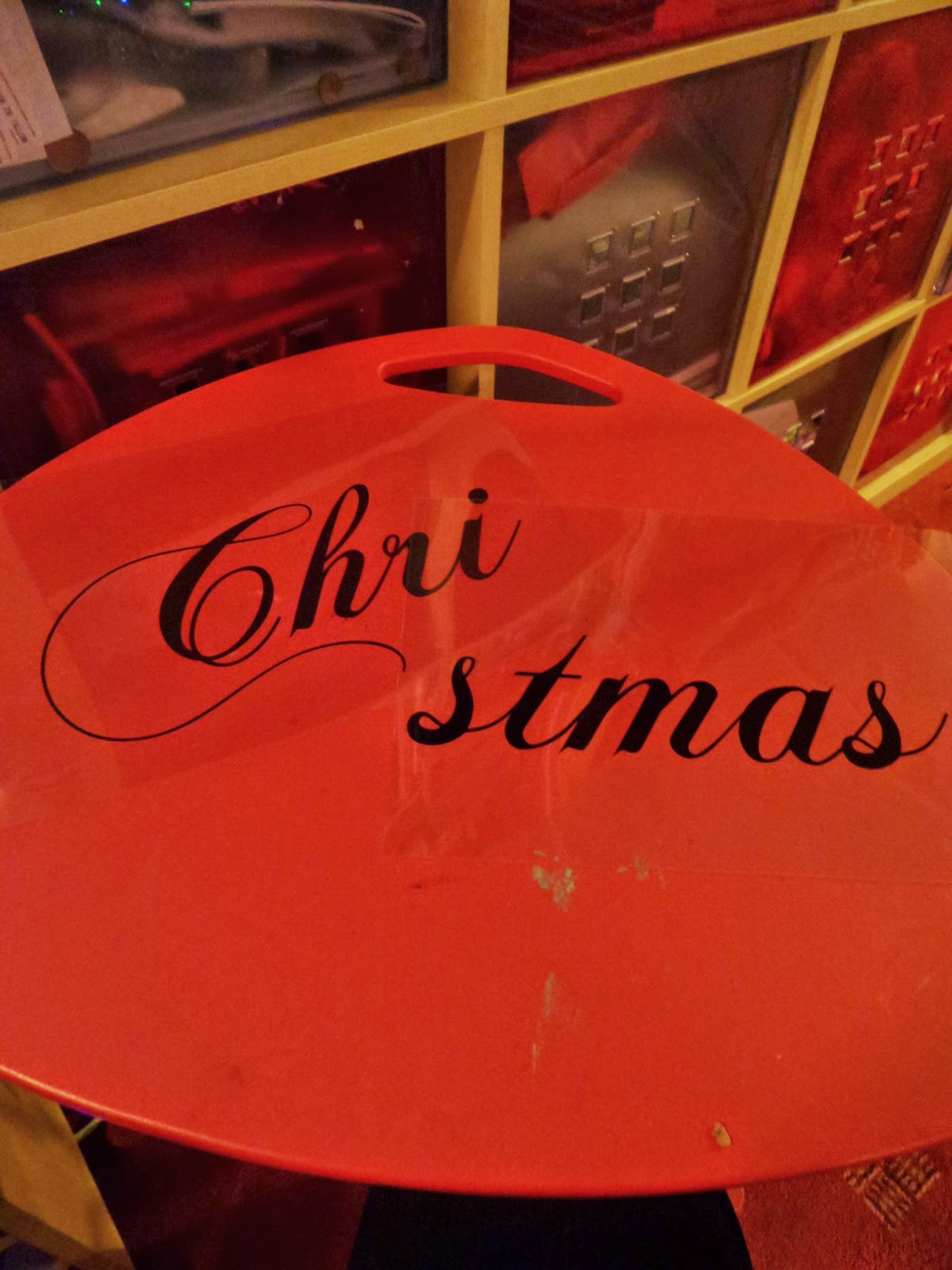 Acetate Christmas sign