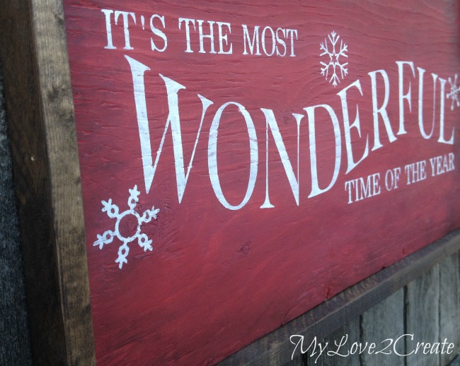 "Pottery Barn Knock Off, ""It's the most Wonderful Time of ..."