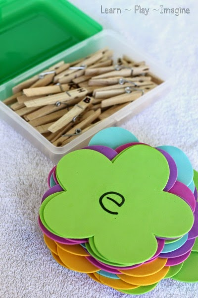 Preschool activity for spring - fine motor ABC match