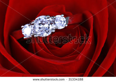 Red Rose - Diamond ring test