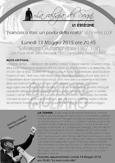 "AL CINELUX ""SALVATORE GIULIANO"" DI FRANCESCO ROSI"