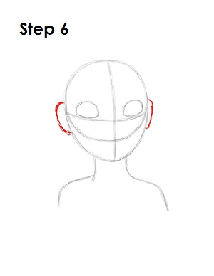 how to draw ears on a head