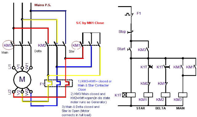 Star Delta Control Circuit Diagram