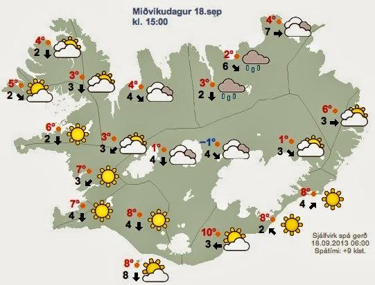 Le site de la météorologie nationale islandaise