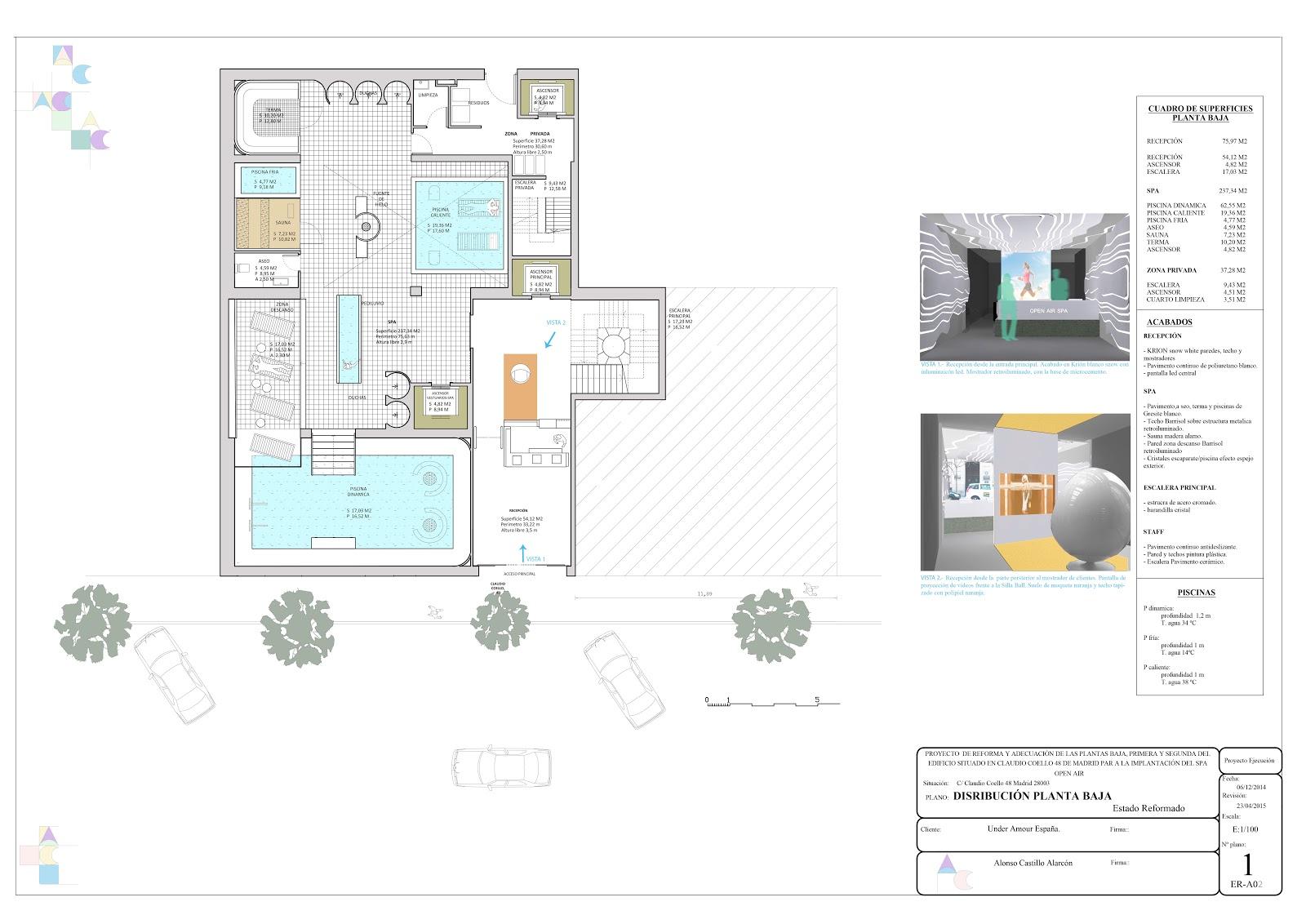 Interiorismo ac proyecto open air spa - Distribucion salon ...