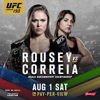 UFC 190 Fight Video Rousey Correia