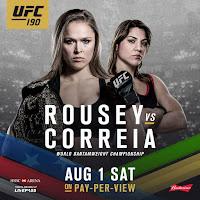 UFC 190 Fight Video Rousey Correia