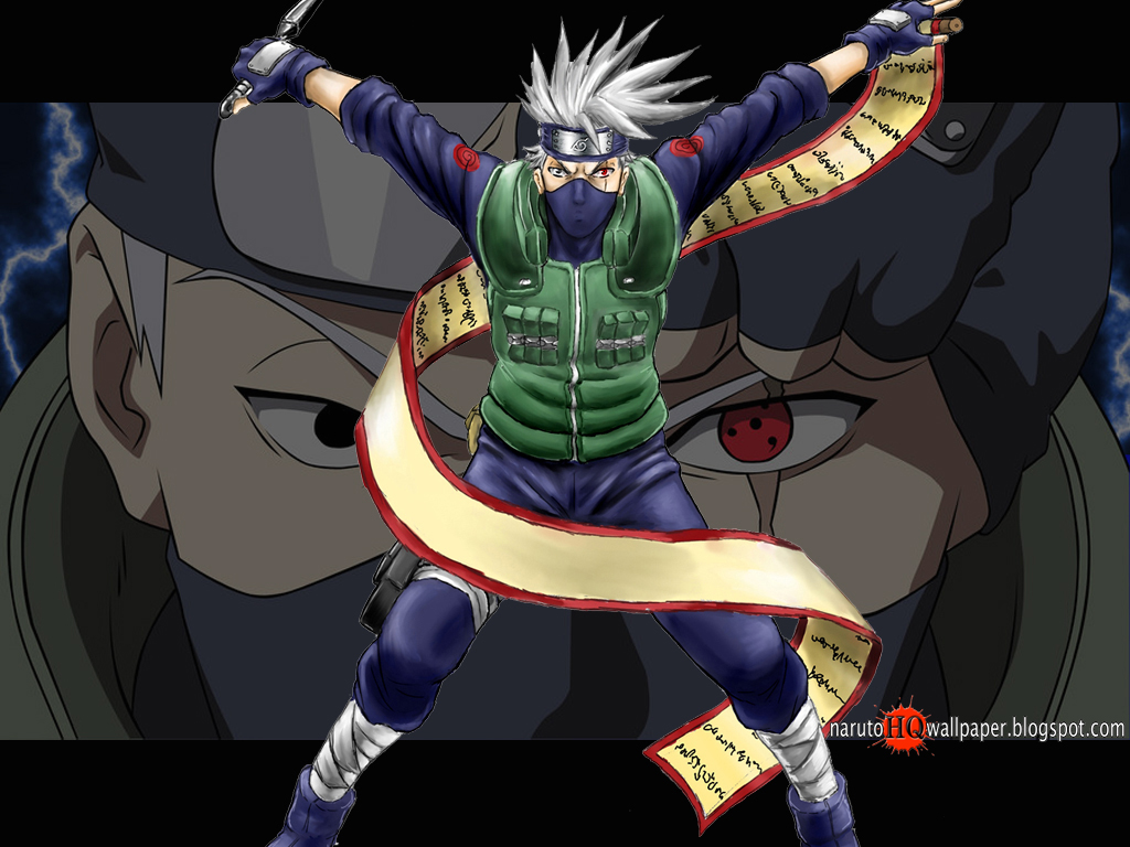Kakashi with Kunai and Scroll