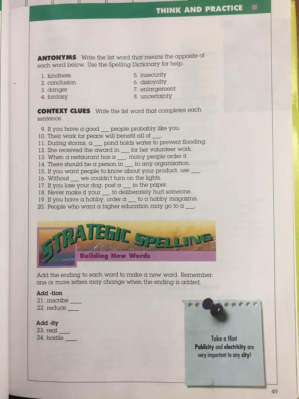 7 black ela 2017 today we completed tuesdays 5 a day grammar and spelling pages 49 1 20 and 51 1 10 the spelling pages are pictured below these spelling pages are spiritdancerdesigns Choice Image
