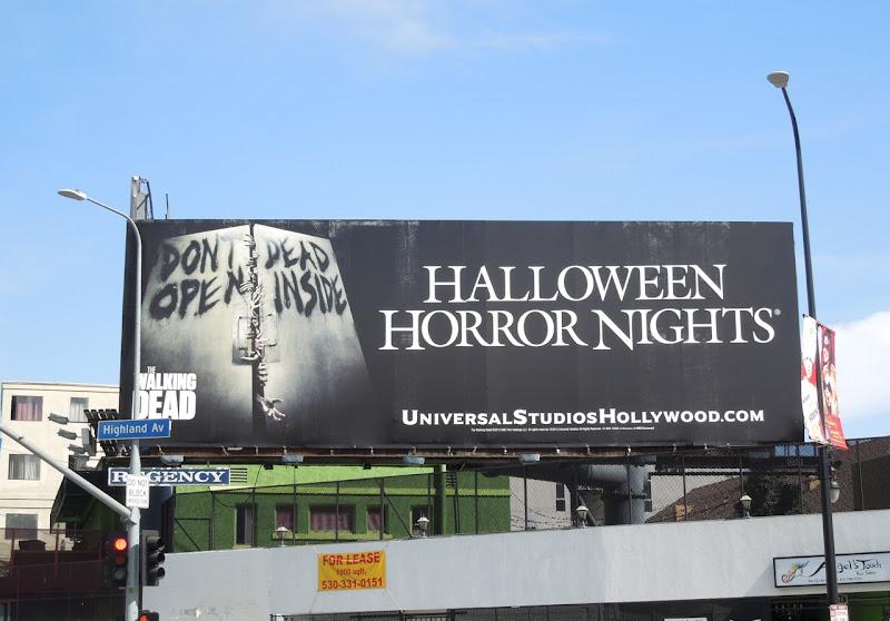Universal Studios Halloween Walking Dead billboard