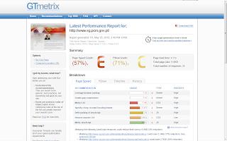 sg.pcm.gov.pt gtmetrix perforance report; Secretaria Geral da Presidência do Conselho de Ministros; GTmetrix perforance report